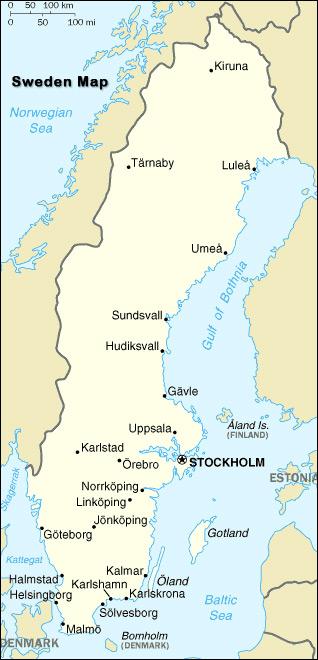 Map Of Sweden Sweden Map - Sweden map physical